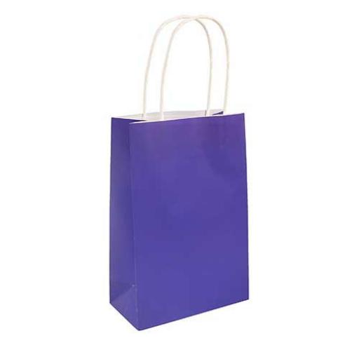Purple Paper Party Bag - Pack of 48