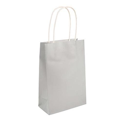 Silver Paper Party Bag - Pack of 48