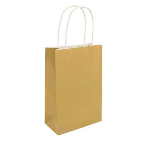 Gold Paper Party Bag - Pack of 48
