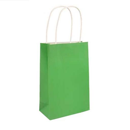Green Paper Party Bag - Pack of 48