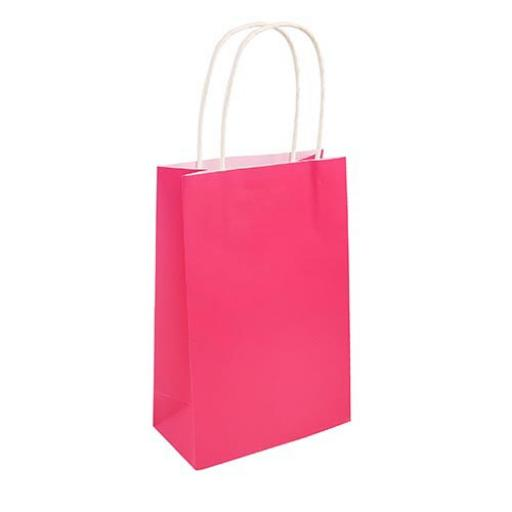 Hot Pink Paper Party Bag - Pack of 48