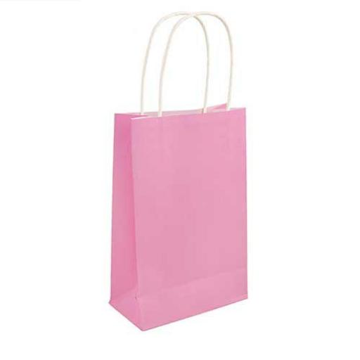 Baby Pink Paper Party Bag - Pack of 48