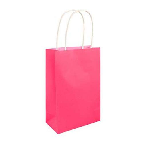Neon Pink Paper Party Bag - Pack of 48