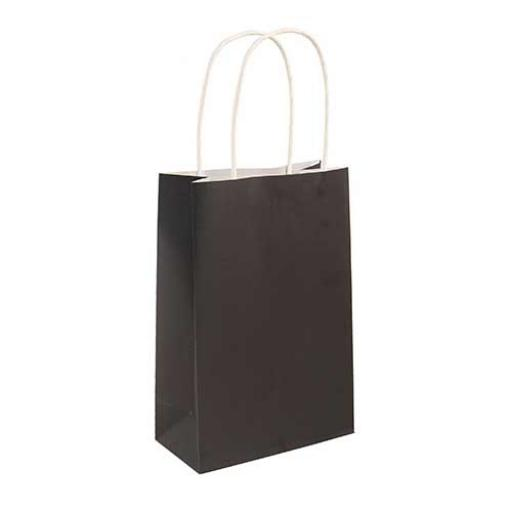 Black Paper Party Bag - Pack of 48
