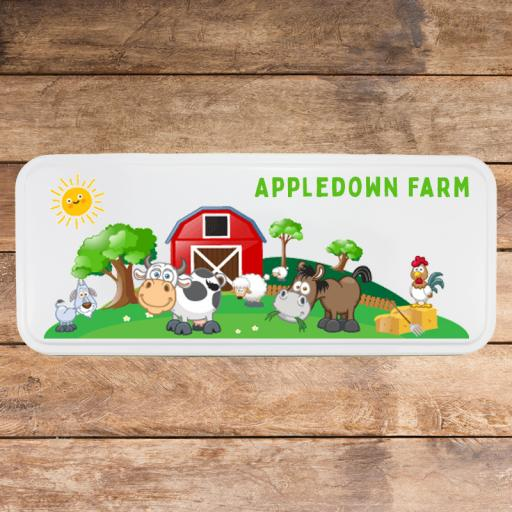 White Pencil Tin - Farm (16 tins)