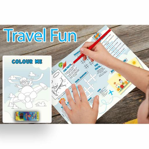 Travel Themed A3 Activity - Pack of 250