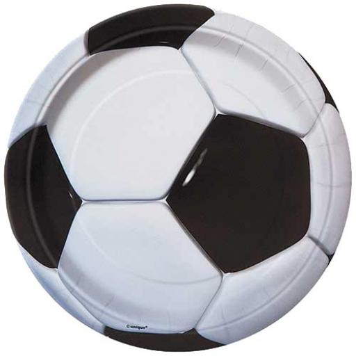 3D Soccer Plates - Pack of 8