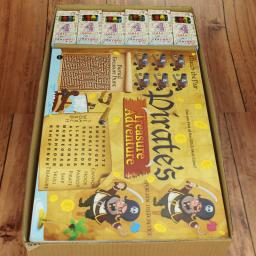 PIRATE ACTIVITY PLACE MAT WITH CRAYONS