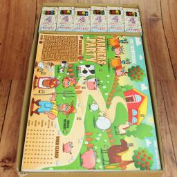 FARM ACTIVITY PLACE MAT WITH CRAYONS