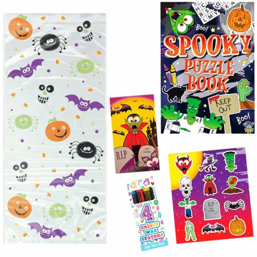 Halloween Party Bag 10 - Box of 100 Pack your own kit