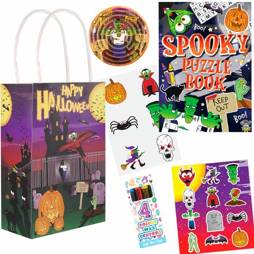 Halloween Party Bag 8 - Box of 100 Pack your own kit