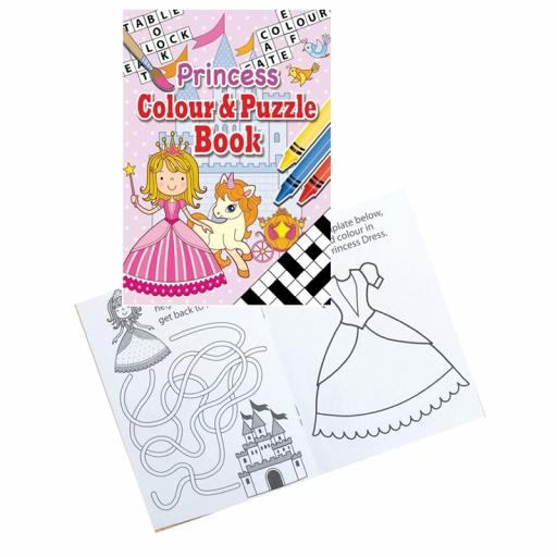 Princess Colour & Puzzle Book - 16pp - Pack of 48