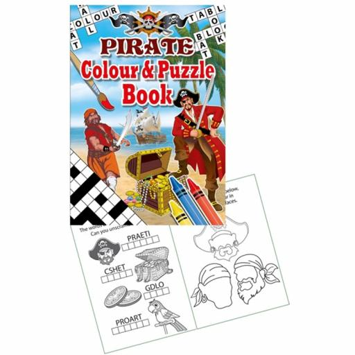 Pirate Colour & Puzzle Book - 16pp - Pack of 48