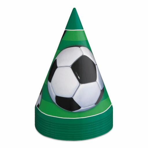 3D Soccer Cone Hats - Pack of 8