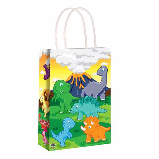 Dinosaur Paper Party Bag - Pack of 48