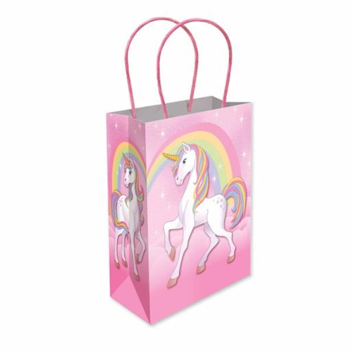 Pink Unicorn Paper Party Bag - Pack of 48