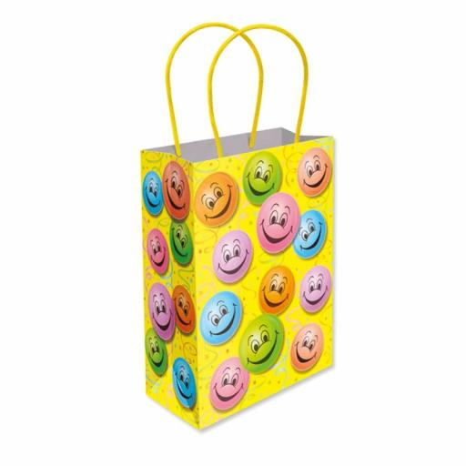 Happy Face Paper Party Bag - Pack of 48