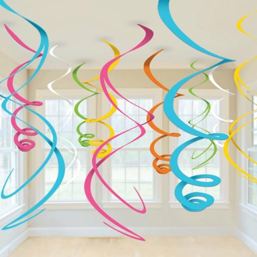 Multi Decorative Plastic Swirls