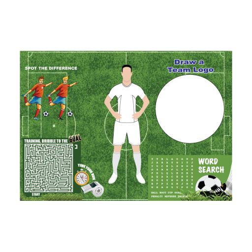FOOTBALL ACTIVITY PLACE MAT - A4 - Pack of 500