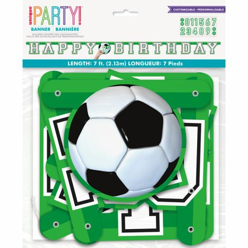3D Soccer Letter Banner with Stickers
