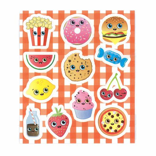 Foodie Face Stickers - Box of 120