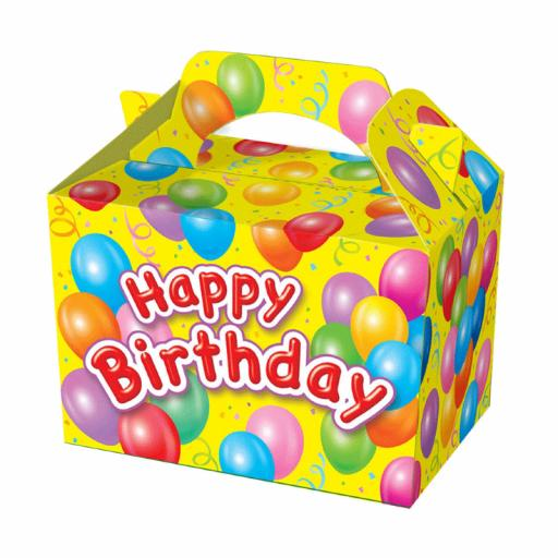 Happy Birthday Yellow Party Box - Pack of 50