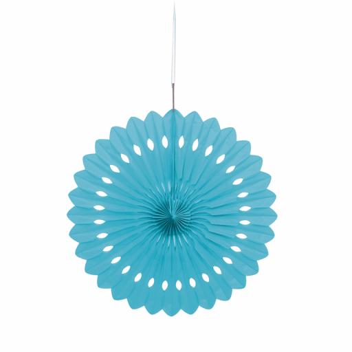 Powder Blue Decorative Fan