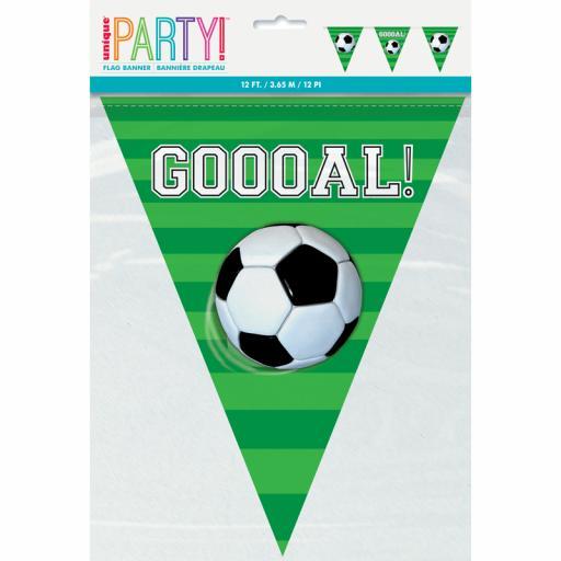 3D Soccer Pennant Banner