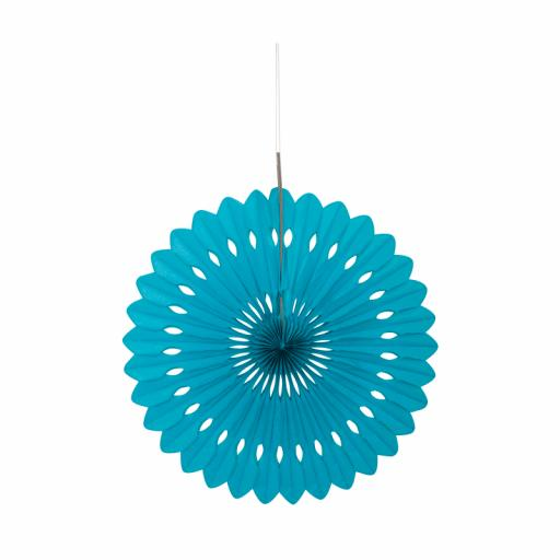 Caribbean Teal Decorative Fan