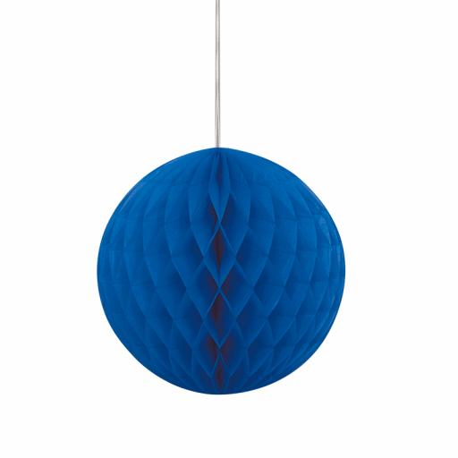 Royal Blue Honeycomb Ball