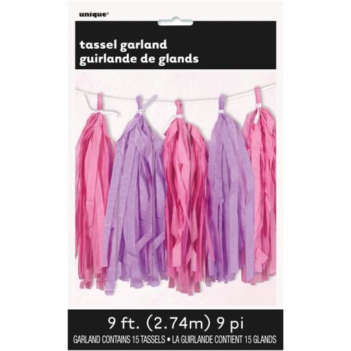 Pink & Purple Tassel Garland