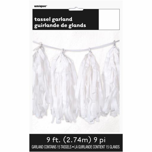 White Tassel Garland