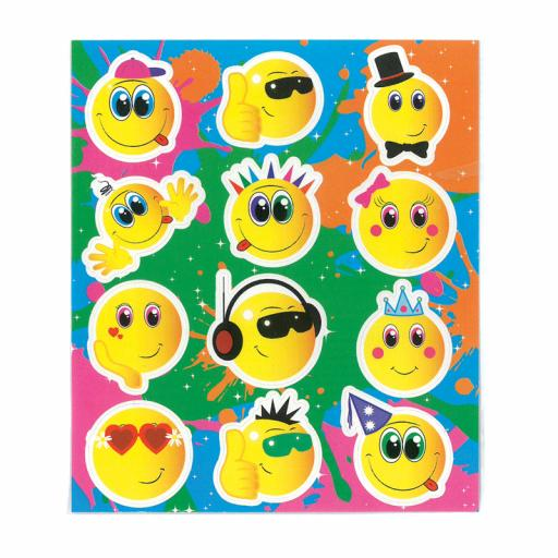 Smile Face Stickers - Pack of 120