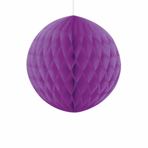 Purple Honeycomb Ball