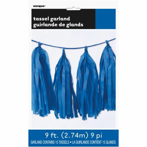 Royal Blue Tassel Garland