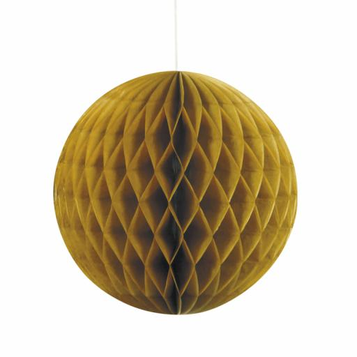 Gold Honeycomb Ball