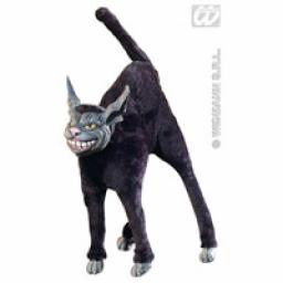 Scary Bendable Black Furry Cat