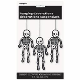 Skeleton Halloween Hanging Swirls