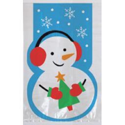 Cello Bags Whimsical Snowman