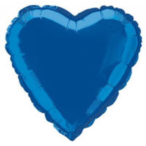 Royal Blue Heart Foil
