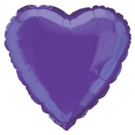 Deep Purple Heart Foil
