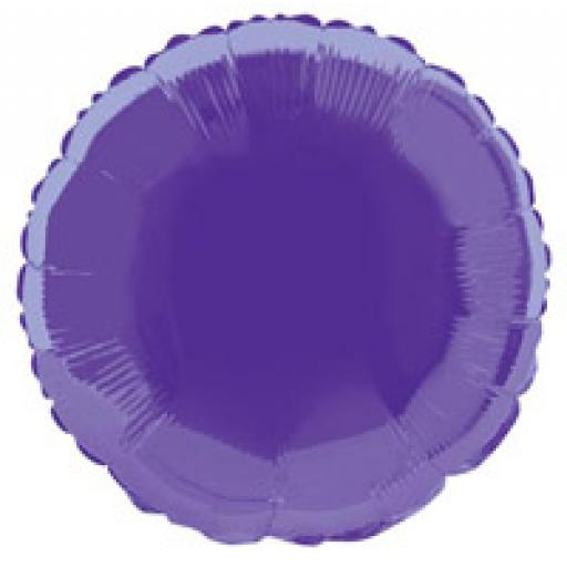 Deep Purple Round Foil
