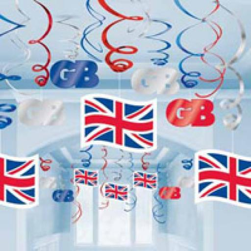 Great Britain Hanging Swirls