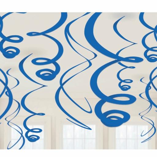 Royal Blue Decorative Plastic Swirls