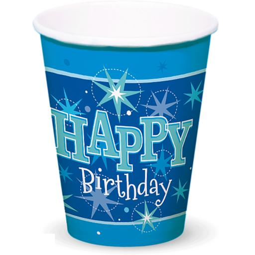 Blue Sparkle Cups