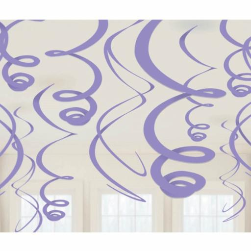 Purple Decorative Plastic Swirls