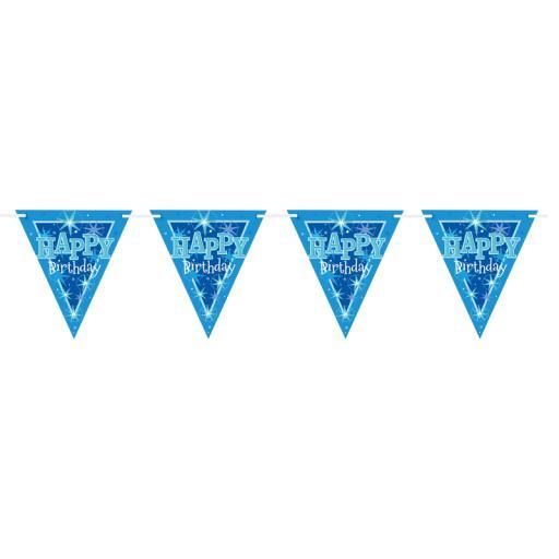Blue Sparkle Flag Banner
