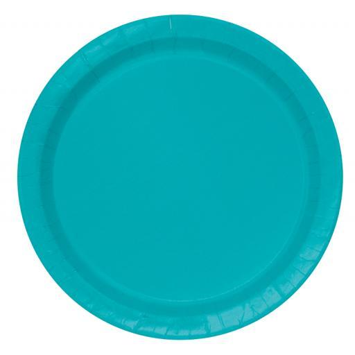 Caribbean Teal Plates