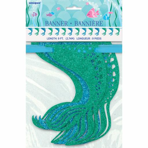 Mermaid Glitter Garland Decoration