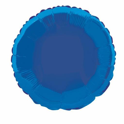 Royal Blue Round Foil